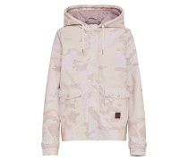 Jacke im Camouflage Look puder