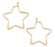 Ohrringe 'small star hoop' gold