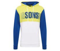 Sweatshirt royalblau / gelb / weiß