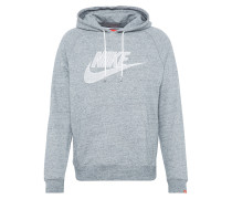 Sweater 'legacy' grau / weiß