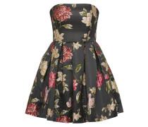 Kleid 'brocadeflower' schwarz