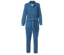 Overall blue denim