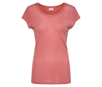 Shirt mit Glitzereffekt pastellrot