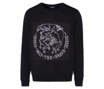 Sweatshirt 's-Samuel' schwarz / weiß