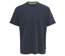 Shirt weiß / nachtblau