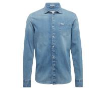 Hemd 'clyde LS Shirt' blau