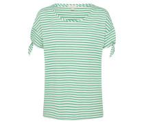 T-Shirt hellgrün / offwhite