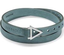 Armband silber / petrol