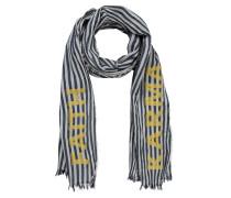 Schal nachtblau / gelb / weiß