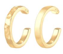 Ohrringe Earcuff Geo Organic gold