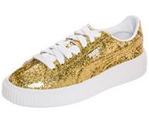 Basket Platform Sneaker Damen gold