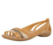 Slipper 'Isabella' braun / gold