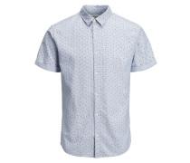 Minimalprint Langarmhemd hellblau