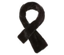 Schal aus Fake Fur schwarz