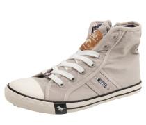 Hohe Sneaker aus Canvas hellgrau