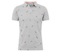 Shirt 'Bermuda' grau / orange / schwarz