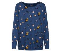 Shirt 'aop' blau / gelb