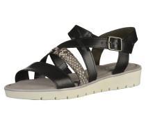 Sandalen creme / schwarz