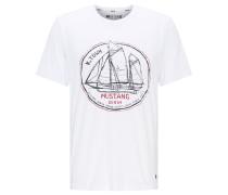 T-Shirt ' Alex C Print ' weiß