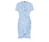 Kleid 'clover' hellblau / weiß