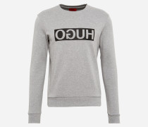 Sweatshirt mit Icon-Print 'Dicago' grau