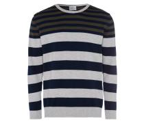 Pullover graumeliert / oliv / schwarz