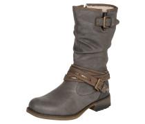 Stiefel mit Riemen braun / dunkelgrau