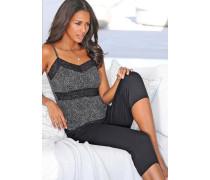 Pyjama schwarz / silber