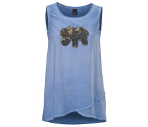 Shirttop mit Perlenbesatz