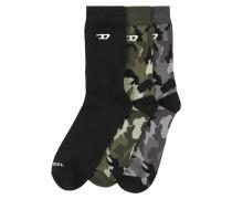 Socken grau / grün / schwarz