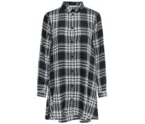 Kariertes Kleid schwarz / weiß