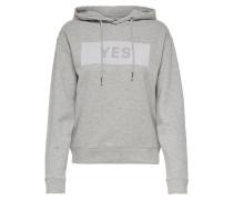Sweatshirt hellgrau / graumeliert