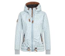 Jacket 'Gleitgelzeit' braun / pastellgrün