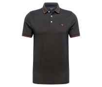 Poloshirt navy / oliv / rot