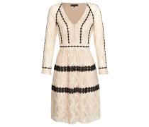 Kleid beige / schwarz