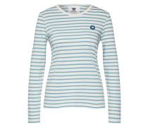 Langarmshirt 'Moa' blau / weiß