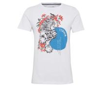 T-Shirt 'Tee with Tigerflowermix print'