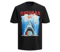 T-Shirt blau / rot / schwarz / weiß