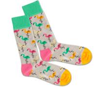 Socken 'Flamingo Party' mischfarben