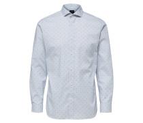Hemd nachtblau / hellblau / weiß