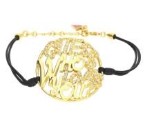 Armband Texil Schwarz/Gold Ubb12202