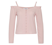 Blusenshirt mit Cut-Outs pink