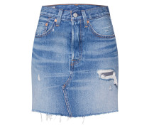 Rock 'HR Decon Iconic BF Skirt' blue denim