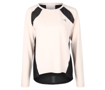 Sportsweatshirt mit Netzeinsatz am Rücken