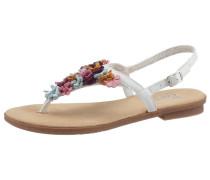 Sandale mischfarben / weiß
