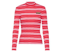 Shirts 'slim fit rib long sleeve' rot