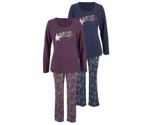 Pyjamas (2 Stück) marine / beere