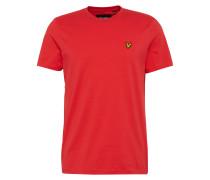 T-Shirt mit Marken-Badge rot