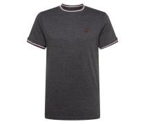 T-Shirt dunkelgrau / burgunder / weiß