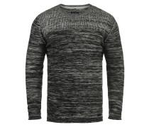 Rundhalspullover 'Lino' grau / schwarz
